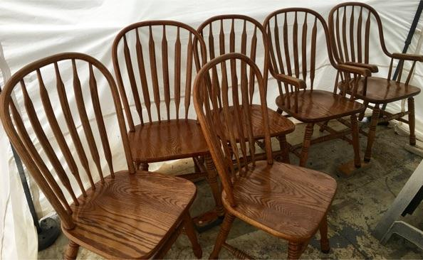 oak table and 6 chairs for sale shin lee dining room tables oak table and 6