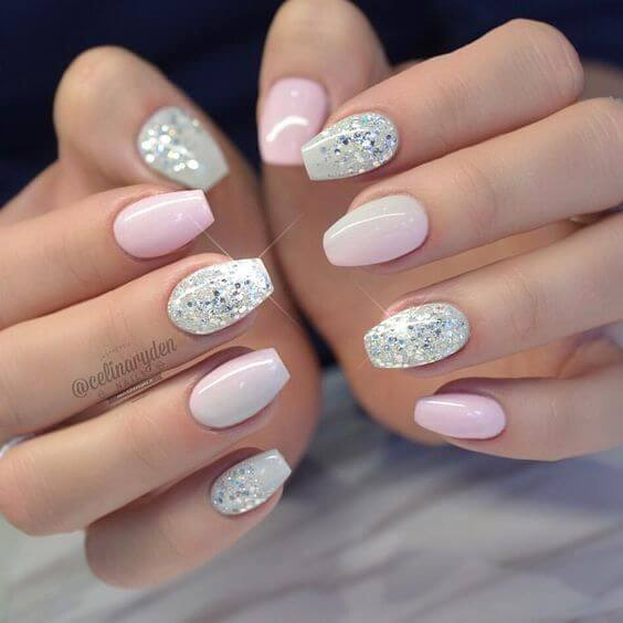 Another great example of patterns looks gorgeous in as gel nail art design