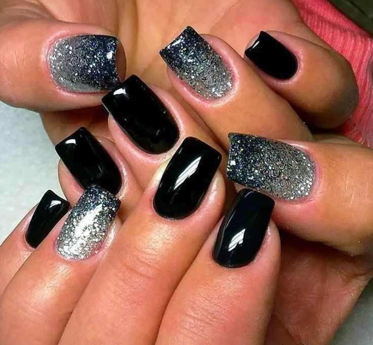 sparkling gel nail designs