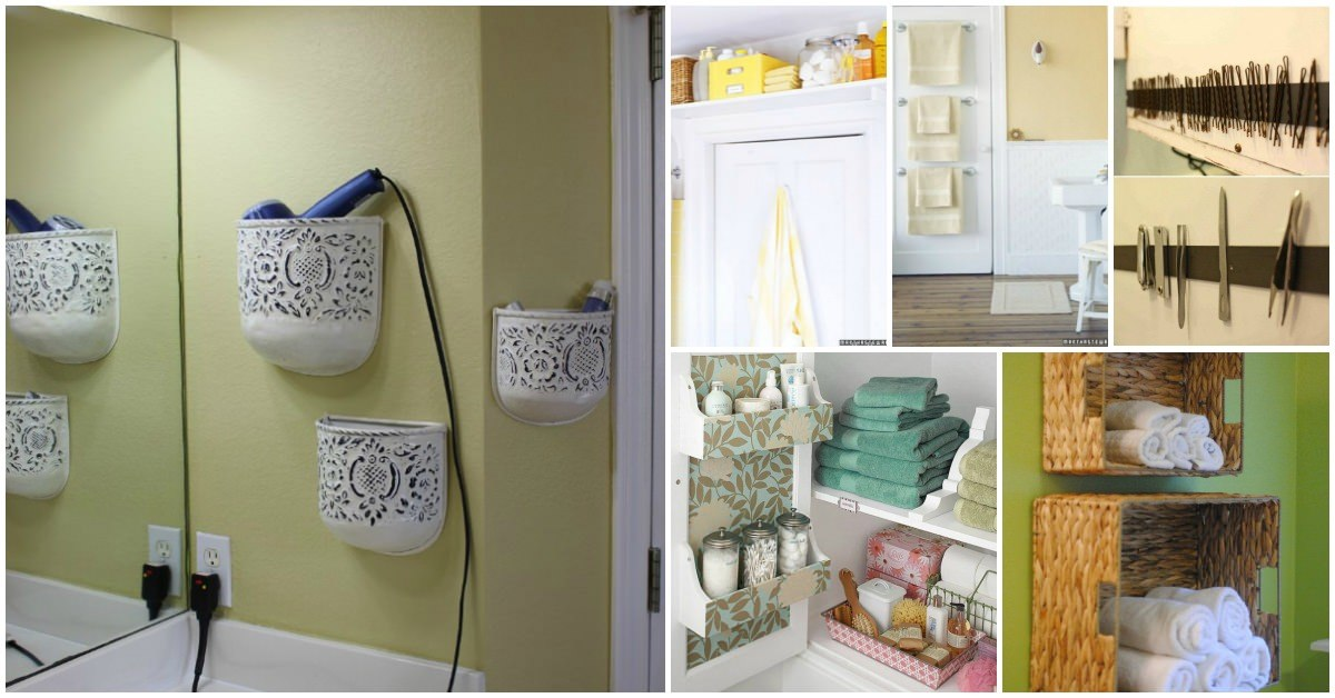 Have a small bathroom? Make your own Bathroom Storage Shelves