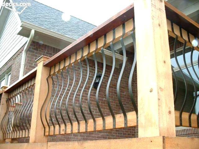 building a porch railing wood rails metal and diy stair