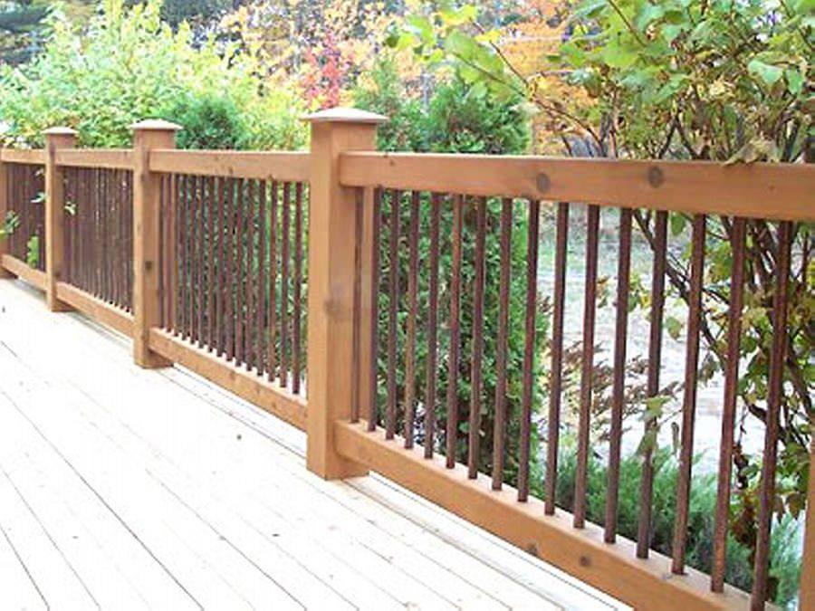 horizontal wood deck railing ideas wooden railings design porch cedar