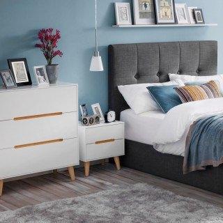 white distressed bedroom