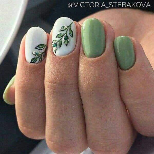 73 Pretty Short Gel Nail Art Designs and Ideas