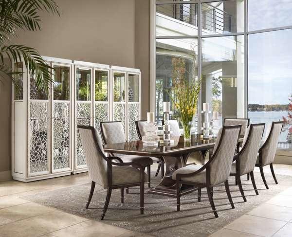 universal furniture elan dining table modern round mahogany 1