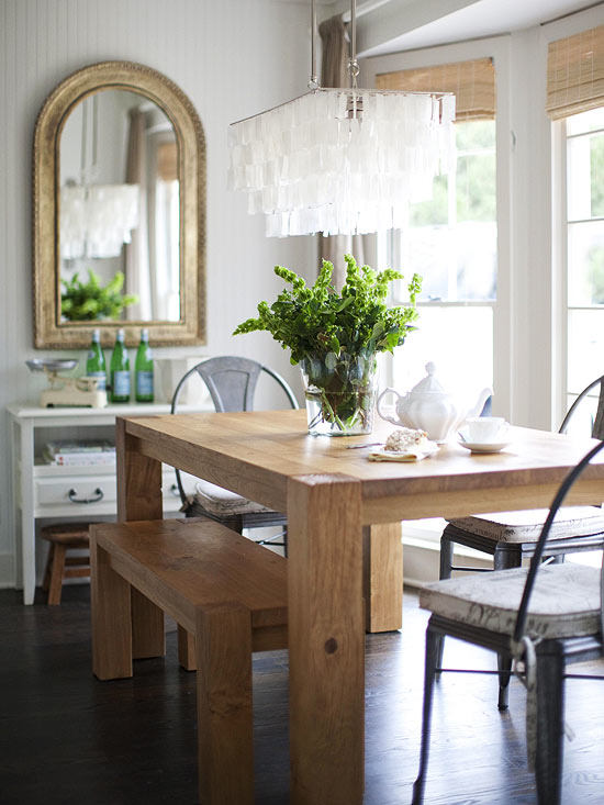 Chris and Claude Beiler tore down the wall that divided the kitchen and dining room