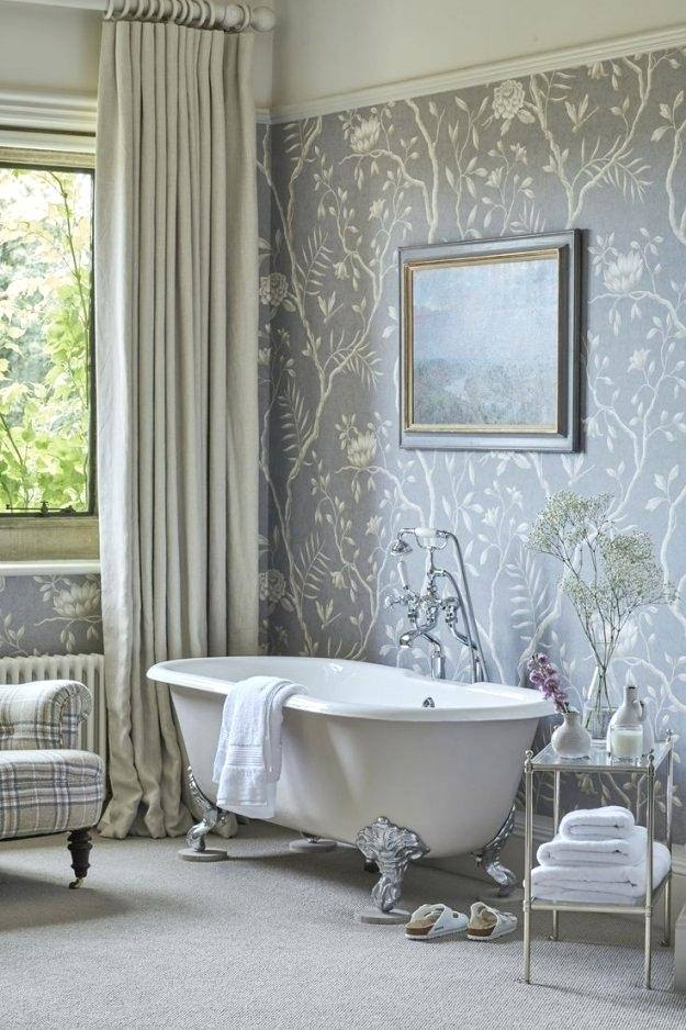 wallpaper for small bathrooms before after bathroom designs