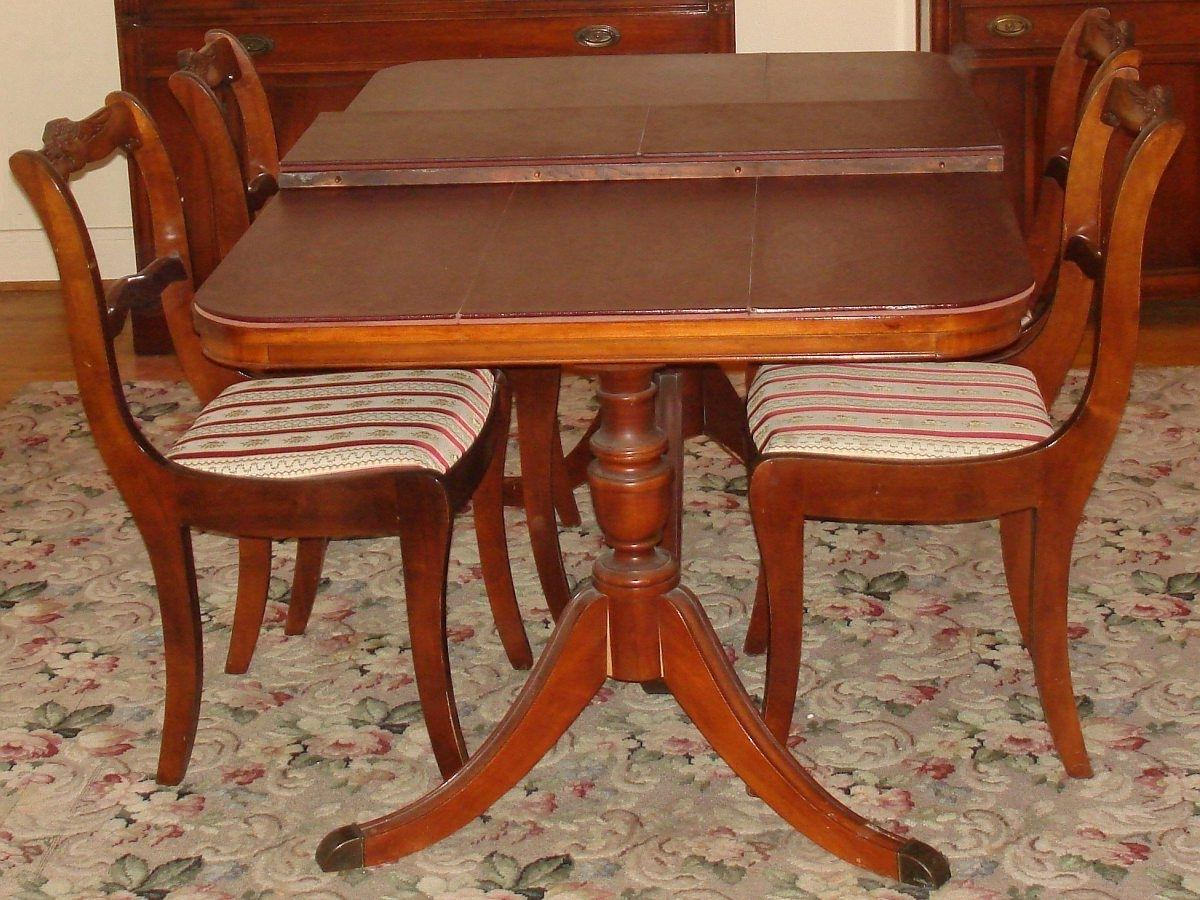 dining room set mahogany