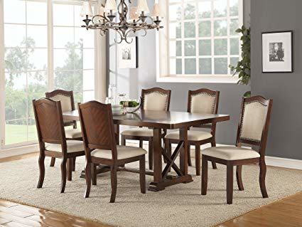 Color: 7pc Formal Dining Table & Chairs Set