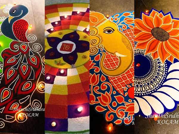 Collection of hundreds of Free Rangoli Designs from all over the world