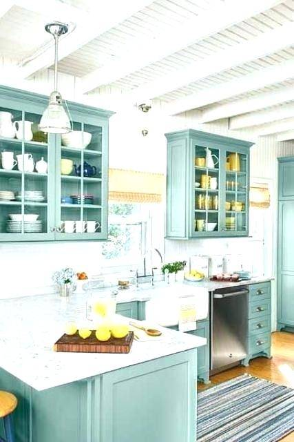 Best pictures and design of Country Kitchen ideas, Rustic cabinets farmhouse style, Rustic farmhouse kitchen decor, Green cupboards, Green kitchen,