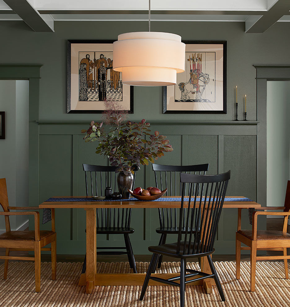 High back dining chairs + table means a cozy comfortable dining experience
