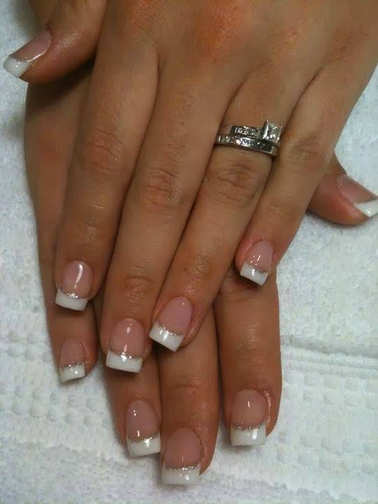 Acrylic french tip nail designs