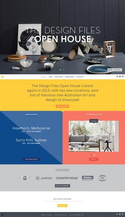 The Design Files Open House html5, Responsive Design, jQuery,  Inspiration, Showcase,