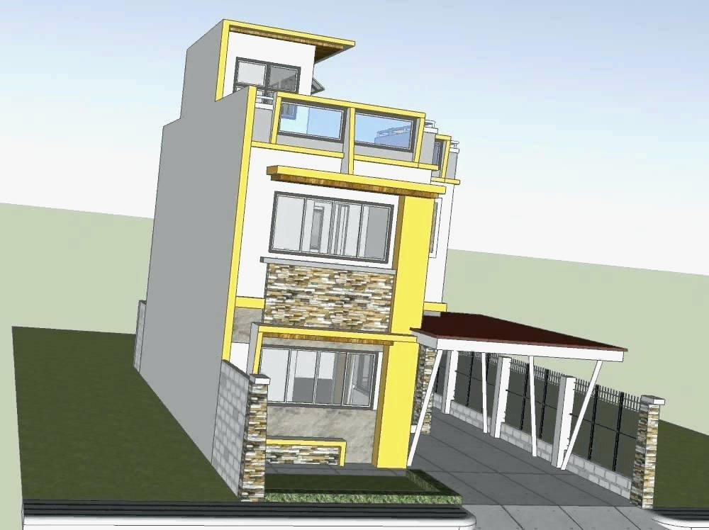 2 Storey House Design With Roof Deck